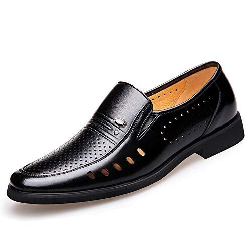 Scarpe Stringate Basse Uomo Scarpe Zapatos De Vestir De Negocios con Punta En Punta para Hombres Zapatos De Cuero-44