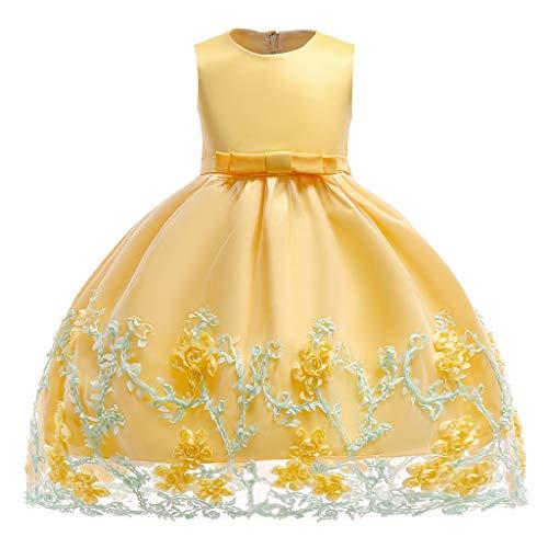 Minizone Ragazze Vestito Bambine Principessa Senza Maniche Vestiti da Festa Bambino Formale Costume 2-3 Anni