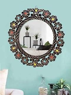 SHOPPING ENTERPRISES Round Hook Mirror Bathroom Mirror Decorative Mirror