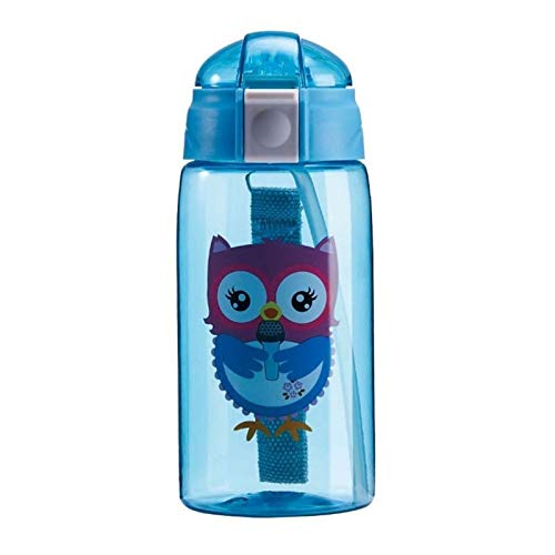 Wasserflasche Kreative Sport Kid Wasserflasche Schöne umweltfreundliche Kunststoff LeakProof Qualitäts-Tour tragbare My Drink-Flasche BPA frei (Capacity : 0.5L, Color : BLUE)