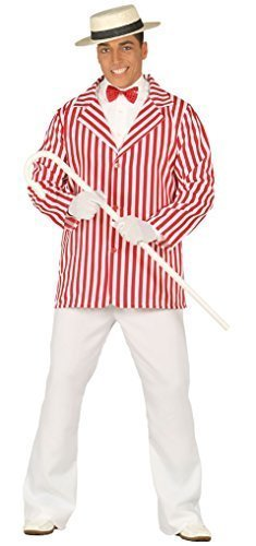 Hommes 1920s À Rayures Performer Veste Livre Jour Semaine Costume Déguisement Grande Taille
