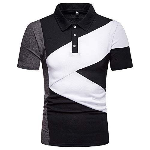 Polo Polo da Uomo Basic Camicie da Uomo Asimmetria Camicie Casual Camicia Kent Colletto Casual Camicia Moda Polo Manica Corta Casual Slim Fit T-Shirt Camicie estive Top L