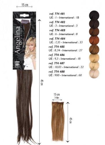 meches extensions remy hair chev nat blond tres clair dore n 9.3 3 clip 15x45cmx1
