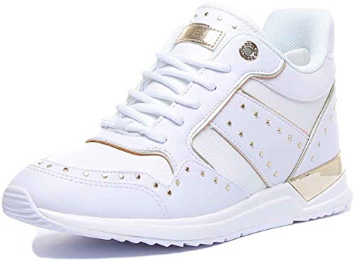 Guess Scarpe Donna Sneaker Running Rejjy in Ecopelle Colore Bianco DS20GU24