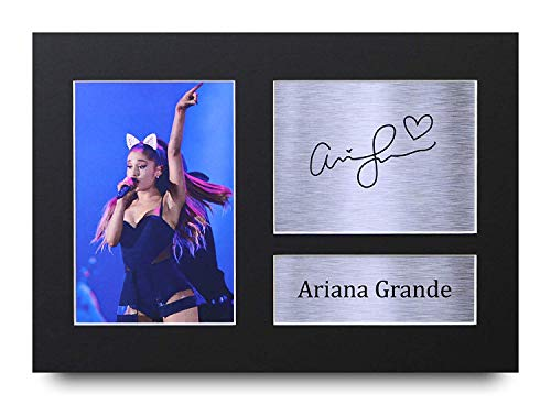 HWC Trading Ariana Grande Signed A4 Printed Autograph Music Print Photo Picture Display