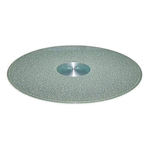 Glass Lazy Susan Turntable for Patio Table Tempered Glass Serving Plate 360° Rotating Swivel With Aluminum Alloy Bearing