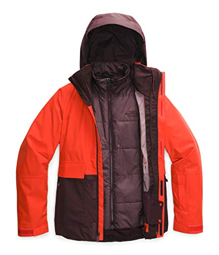 The North Face Women's Garner Triclimate Jacket, Flare/Root Brown/Root Brown Heather, Small