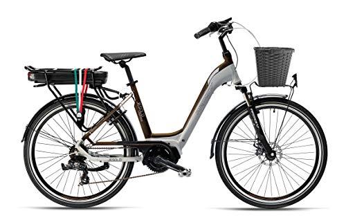 Armony Jesolo, Bicicletta Elettrica Unisex Adulto, Grigio Marrone, 26'