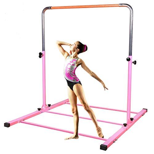 Product Image of the SHIWEI TJ Fitness Gymnastics Training Bar- Height Adjustable 3' to 5' Horizontal...