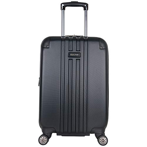 """Kenneth Cole Reaction Reverb 20"""" Hardside Expandable 8-Wheel Spinner Carry-on Luggage, Black"""