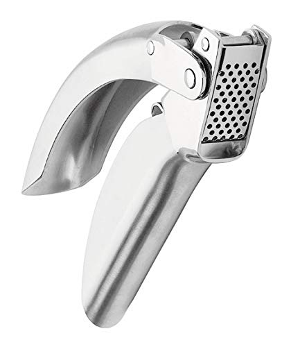 Kuhn Rikon Epicurean Garlic Press, Stainless Steel, 6.5 x 1 x 1.5 inches, Silver