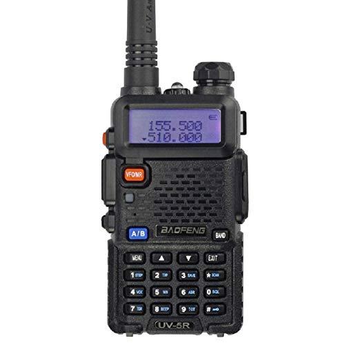 Baofeng UV5R 136-174/400-480 MHz Dual-Band DTMF CTCSS DCS FM Ham Two-Way Radio (Black)