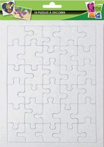 10 puzzles of 30 parts to decorate - 20 x 13 cm - Seeds creative