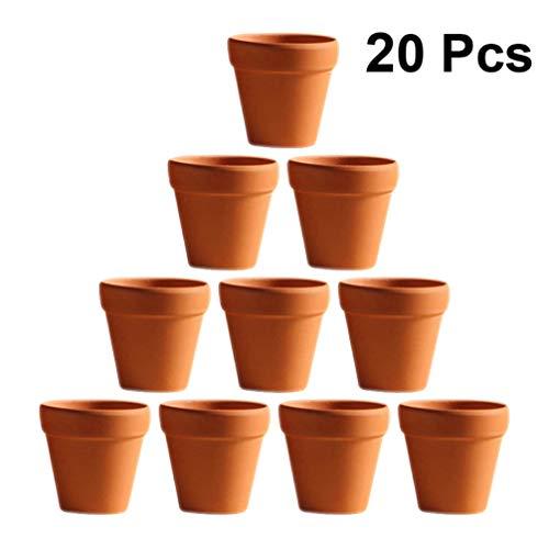 Toyvian 20 Piezas Pequeñas Macetas Pequeñas de Arcilla Maceta de Terracota Maceta de Cerámica de Cerámica Maceta de Flores de Cactus Macetas de Terracota con Orificio de Drenaje para Interiores