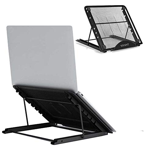 Laptop Tablet Stand, Foldable Ventilated Laptop Holder ,Portable Desktop Stand, Universal Lightweight Ergonomic Tray Cooling Laptop Stand for All 10-14 inches Laptop Notebook/Tablet