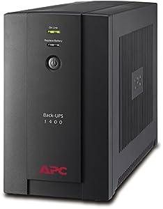 APC Back-UPS BX - BX1400U-GR - Unterbrechungsfreie Stromversorgung 1400VA (AVR, 4 Schuko Ausgänge, USB, Shutdown Software)