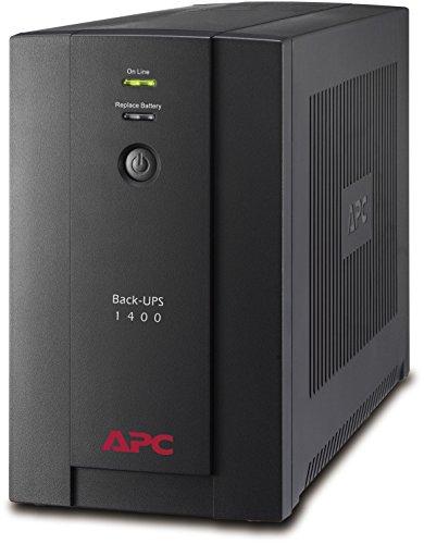 APC BX1400U-GR Back-UPS BX - Sistema de alimentación ininterrumpida SAI 1400VA (4 tomas