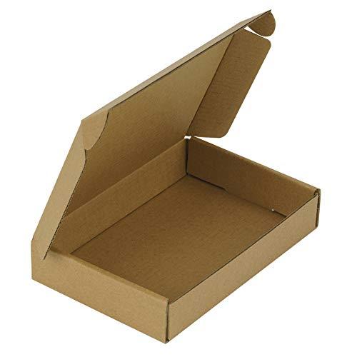 RUSPEPA Sobres De Caja Corrugada Reciclable - Caja De Cartón Perfecta Para Envíos Pequeños - 15,3 X 10,2 X 2,5 cm - Paquete De 50 - Kraft