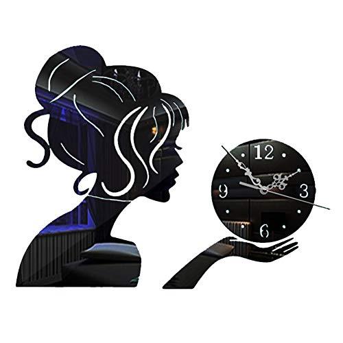 Reloj de Pared 3D Silencioso,Reloj de Pared de Hadas,DIY de Acrílico Sin Marco Efecto de...