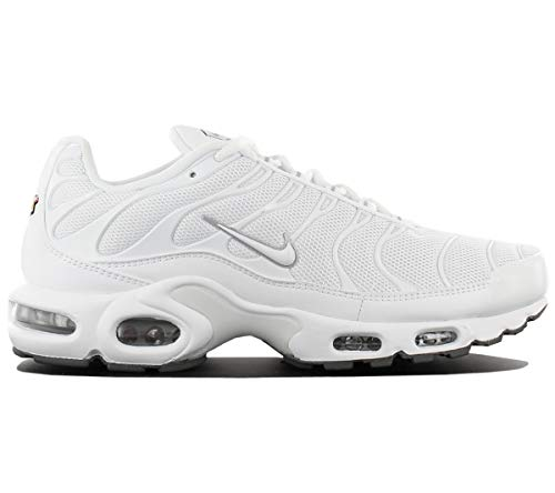 Nike Air Max Plus, Chaussures de Running Homme, Blanco (White/White-Black-Cool Grey), 46 EU