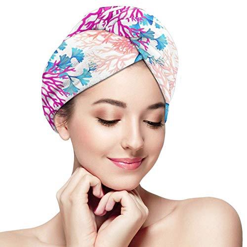 QHMY Serviettes de Cheveux de mer Profonde (19) Bouchons de Cheveux à séchage Rapide pour Spa de Bain
