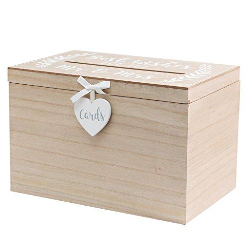 Sole Favors Geschenke- & Dekobox Holzbox Vintage Briefbox für Karten Kartenbox Hochzeit