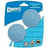 ChuckIt! Rebounce Natural Recycled Rubber Dog Ball, Medium, 2 Pack
