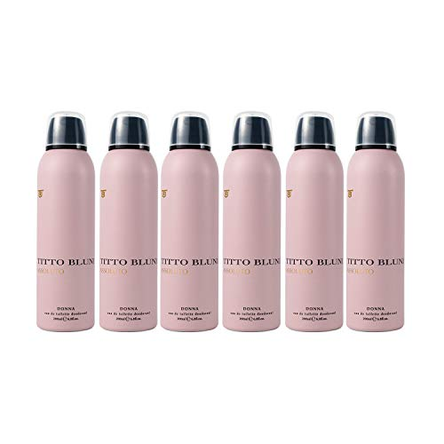 Titto Bluni Assoluto Donna Eau de Toilette Desodorante Spray 200ml - Pack de 6