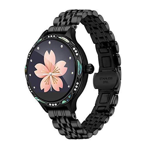 ZGNB Mujeres Smartwatch M9 Impermeable IP68 Tasa del Corazón Sphygmomanómetro Whatsapp Recordatorio Smartwatch Health Tracker para Android iOS,A