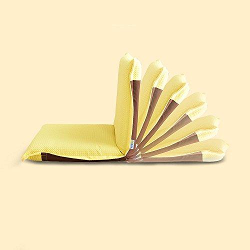 Chambre paresseux chaise pliante chambre à coucher Casual bleu/Orange / jaune/Beige (Couleur : Le jaune)