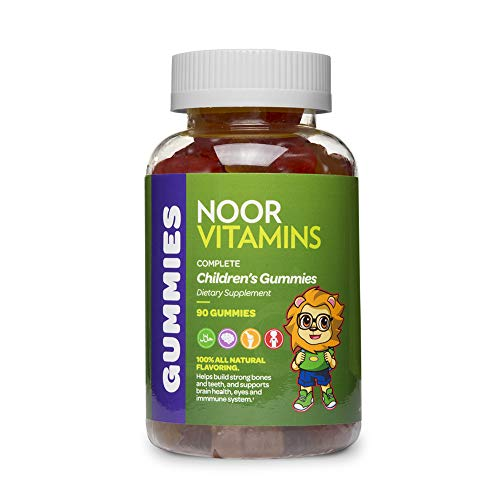 NoorVitamins Kids Formula Daily Gummy Multivitamin: Vitamin C, D3, and Zinc for Immunity, B6 & B12 for Energy. Non-GMO, Allergen & Gluten Free Halal Gummy - 90 Count (45-90 Day Supply: Age Dependent)