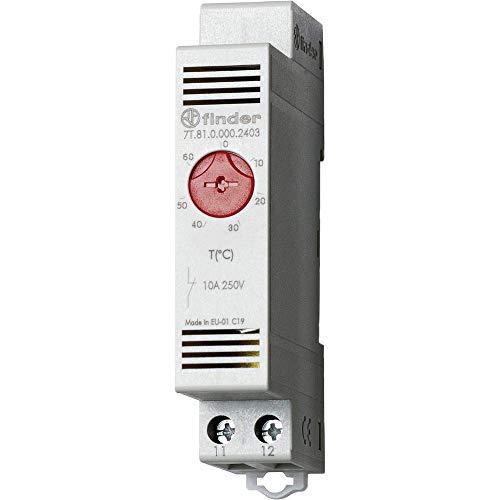 Finder Serie 7T Thermostat Wandbild 1Schließer 10A Kontakt geschlossen
