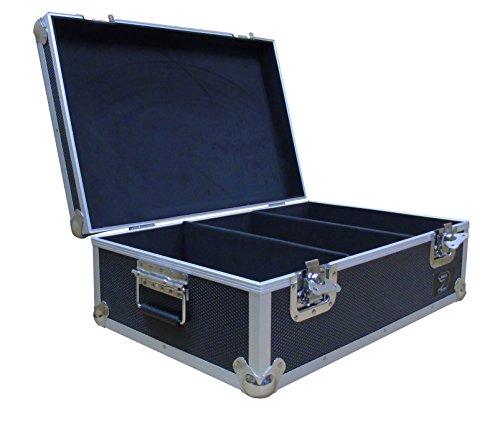 """DJ de aluminio de 7""""disco de vinilo vuelo funda de transporte en negro capacidad para 500discos de vinilo rígida caja fuerte"""