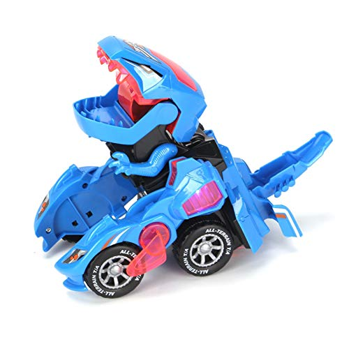AllRight LED Dinosaur Car Electric Deformation Dinosaur Toy Tyrannosaurus Boy Toy Gift With Light And Sound Children's Household Toys Blue