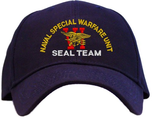 Seal Team Six Spec Ops Embroidered Baseball Cap - Navy