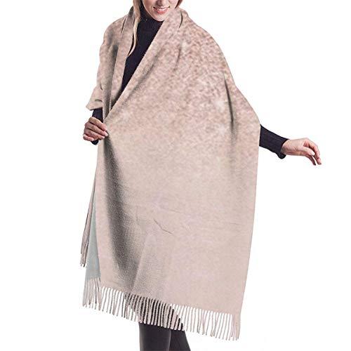 Bufanda de mantón Chales para, Bufanda de cachemir Ombre rosa con purpurina sintética de oro rosa para mujeres y hombres, bufandas de invierno suaves de gran tamaño y ligeras, chales con flecos