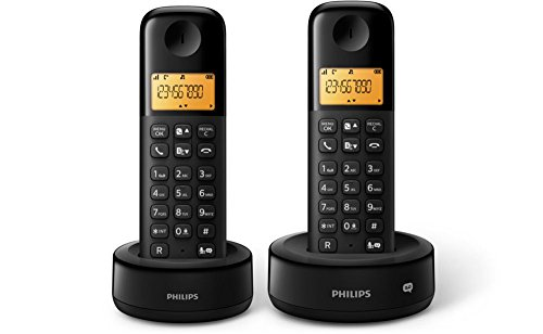 PHILIPS D1352B/38 2er Pack Schnurlostelefon mit Anrufbeantworter