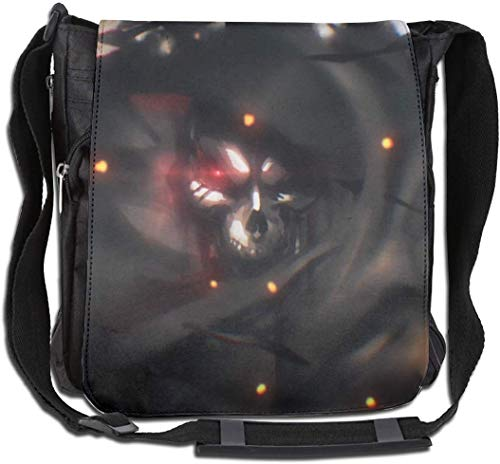 DIs Overlord-Ainz Ooal Kleid Mode Anime Messenger Bags Anime Single Shoulder Pack für Jugendliche (11,8 Zoll X 11,8 Zoll) Schmal