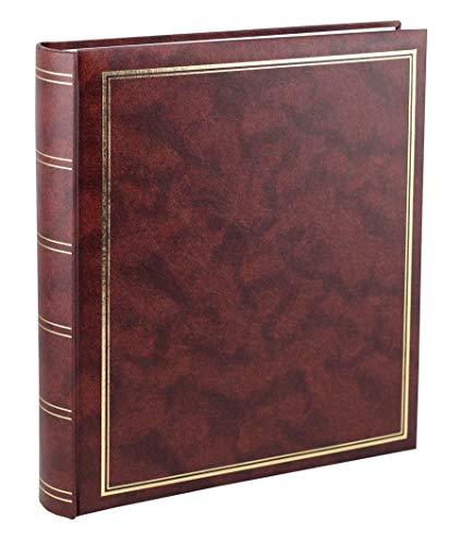 Ideal Trend Big Jumbo Fotoalbum in 29x33 cm 100 weiße Seiten Vinyl Foto Buch Album: Farbe: Braun