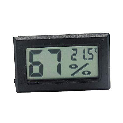 NAttnJf Thermomètre hygromètre numérique sans Fil LCD avec thermomètre numérique Black