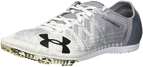Under Armour Women's Shifty Lows Athletic Shoe, Steel (100)/White, 7.5