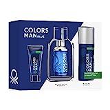 Benetton Col Benetton Colors Man Blue Est 3 Pza 300 g