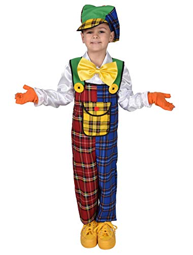 MAGIC BY FREDDYS Latzhose Clown Kinder 2-TLG. Größe: 116/128
