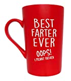 MAUAG Funny Christmas Gifts Dad Coffee Mug for Dad, Fun Dad Mug Gifts from Daughter Son, Red 12 Oz