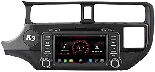WJYCGFKJ Android 10 Lettore Dvd per Auto GPS Stereo Head Unit Navi Radio Multimedia WiFi per Kia Rio Pride 2011 2012 2013 2014 Controllo del Volante