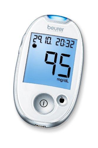 Beurer Blutzuckermessgerät GL 44 MG DL Weiß