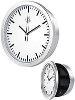 Schützen Sie Ihre kleinen Kostbarkeiten vor neugierigen Blicken • Klassisch schön, mit zuverlässigem QuarzUhrwerk Wanduhr mit Quarz-Uhrwerk und Geheimfach Stromversorgung: 1 Batterie Typ AA / Mignon (bitte dazu bestellen) Maße Uhr (Ø x T): 25 x 7 cm,...
