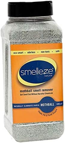 SMELLEZE Natural Regular discount NEW Moth Ball Odor Remover: 50 Granules. lb. L Long