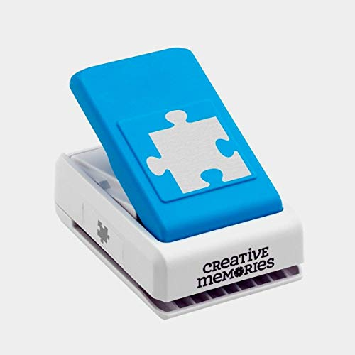 Creative Memories Puzzle Punch for Interlocking Pieces Autism Scrapbooking and Card Making