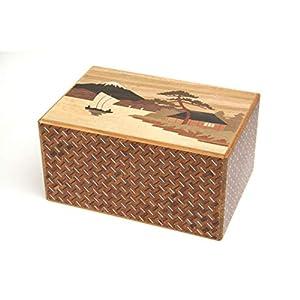 Japanese Puzzle Box 14steps Sansui (Dual Compartment)